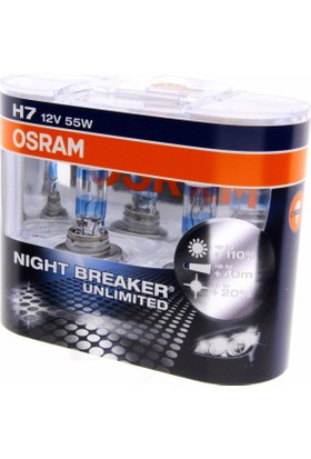 Osram 12V H7 Night Breaker Ampul %110 FAZLA IŞIK 64210 NBU-HCB