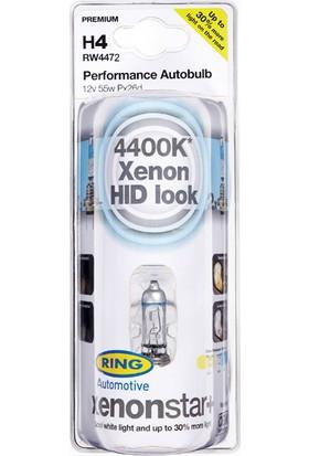 Xenon Star H4 12v Beyaz Işık + %30 Fazla Işık- Far Ampul Seti