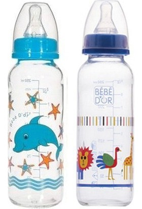 Bebedor %0 BPA Desenli Cam Biberon 250 ml