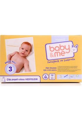Baby&Me Bebek Bezi Midi 3 Numara 100 Adet
