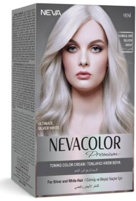 Neva Color Premium Gümüş Gri Tonlayıcı Krem Boya Silver