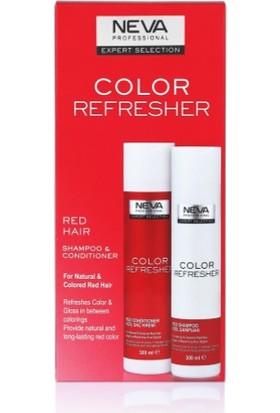 Neva Color Refresher Renk Yenileyici Kızıl Şampuan ve Krem Set 300 ml