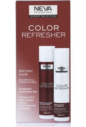 Neva Color Refresher Renk Yenileyici Kahve Şampuan ve Krem Set 300 ml