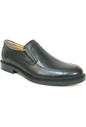 Ales 4644 Siyah Bağcıksız Erkek Ayakkabı