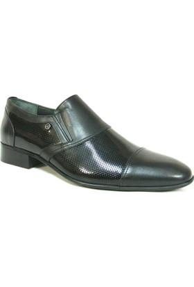 Zirve 140420 Siyah Bağcıksız Erkek Ayakkabı