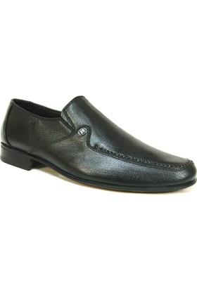 Slope 164044 Siyah Bağcıksız Kösele Erkek Ayakkabı