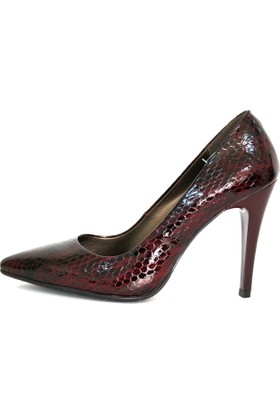 Akl Shoes Bordo Parlak Stiletto