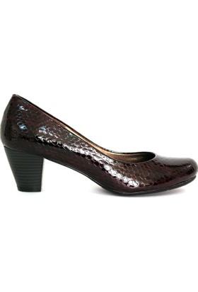 Akl Shoes Bordo Petek Rugan Alçak Stiletto