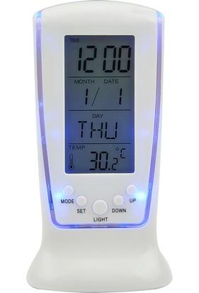 Lideroutlet Dijital Masa Saati Alarm -Termometre Saat- Tarih