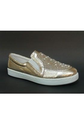 Baba 030420 Altın Dore Taşlı Vans Çocuk Ayakkabısı