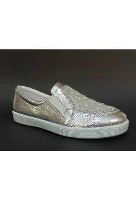 Baba 030420 Gümüş Taşlı Vans Çocuk Ayakkabısı
