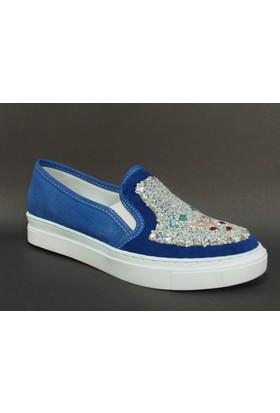 Baba 171102 Saks Mavi Taşlı Vans Çocuk Ayakkabısı