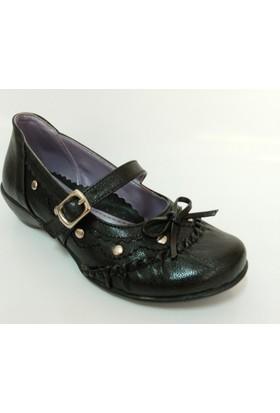 Punto 55902 Siyah Kız Çocuk Babet Ayakkabı