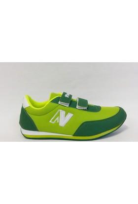 Timer 1100 Yeşil Beyaz Cırtlı Çocuk Spor Ayakkabı