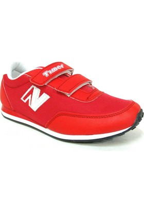 Timer 1100 Kırmızı Beyaz Cırtlı Çocuk Spor Ayakkabı