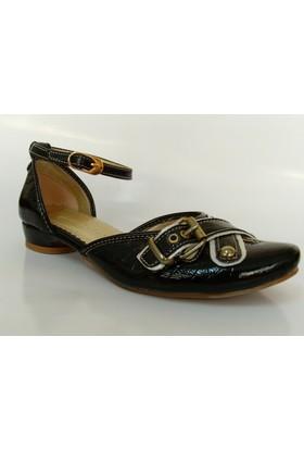 Biella 193 Siyah Bayan Babet Ayakkabı