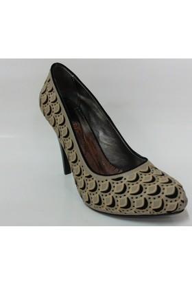 İbo Bej Siyah Bayan Platform Ayakkabı
