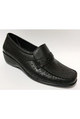 Paprika Siyah Bayan Ortopedik Ayakkabı
