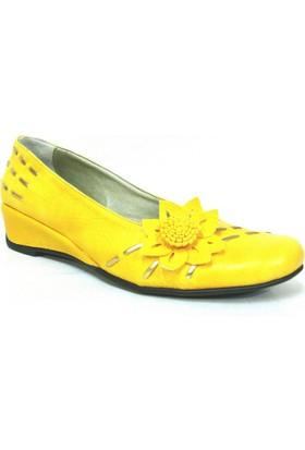 Ayakdaş Sarı Bayan Topuklu Ayakkabı