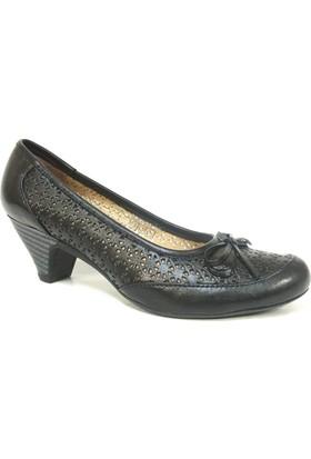 Elçin 1400 Siyah Topuklu Bayan Ayakkabı