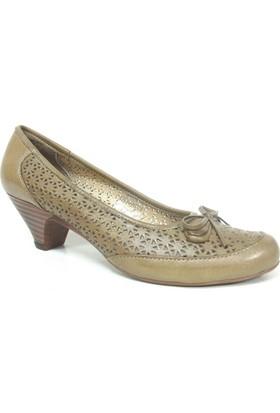Elçin 1400 Camel Topuklu Bayan Ayakkabı