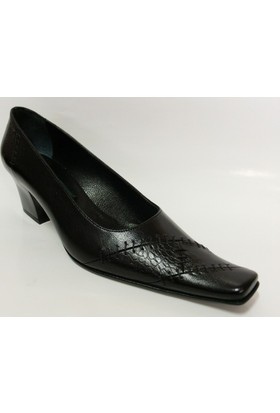 Naneciler Siyah Topuklu Bayan Ayakkabı
