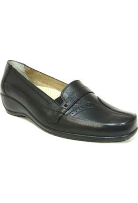 Fogs 6437 Siyah Ortopedik Bayan Anne Ayakkabısı