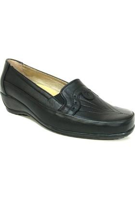Fogs 6427 Siyah Ortopedik Bayan Anne Ayakkabısı