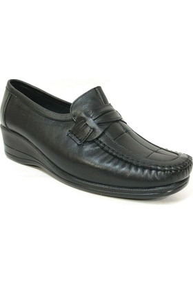 Filik 104 Siyah %100 Deri Ortopedik Comfort Bayan Ayakkabı