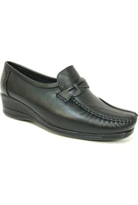Filik 115 Siyah %100 Deri Ortopedik Comfort Bayan Ayakkabı