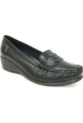 Filik 127 Siyah %100 Deri Ortopedik Comfort Bayan Ayakkabı