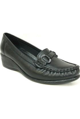 Filik 128 Siyah %100 Deri Ortopedik Comfort Bayan Ayakkabı