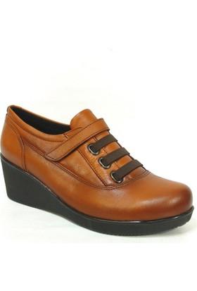 Nobilta 8005 Taba %100 Deri Jelli Comfort Bayan Ayakkabı