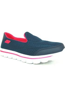 Nstep Victoria Lacivert-Fuşya Comfort Kadın Spor Ayakkabı