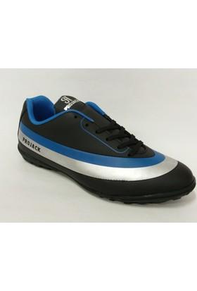 Projack 140040 Siyah Gümüş Saks Halı Saha Ayakkabısı