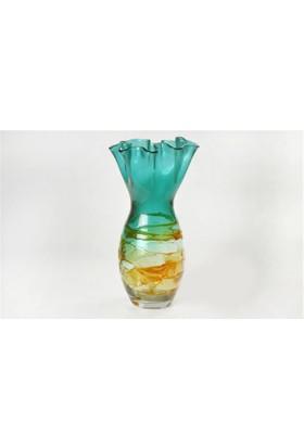 Yargıcı Porselen Cam Büyük Vazo-Degrade