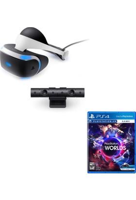 Sony PlayStation VR Sanal Gerçeklik Gözlüğü + PS4 Kamera + Worlds VR