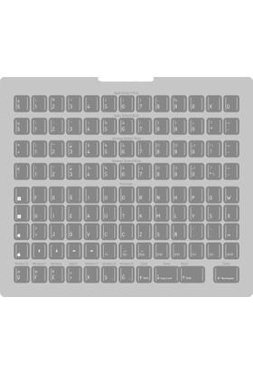 Evrensel klavye Universal Klavye Üstü Etiket Gri