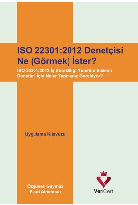 Vericert Iso 22301-2012 Denetçisi Ne (Görmek) İster?