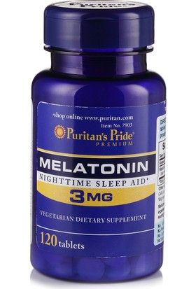 Puritan's Pride Melatonin 3mg 120 Tablet