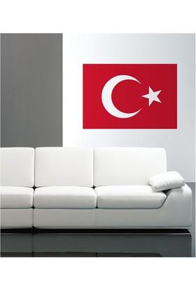 Türk Bayrağı Kadife Duvar Sticker 65X44 Cm.