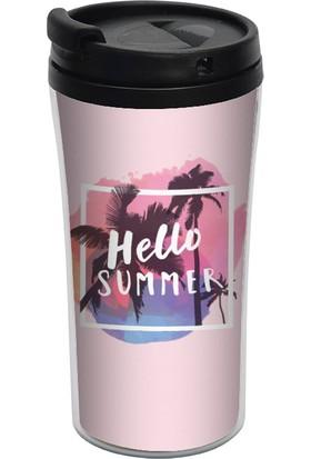 Allmug İç - Dış Plastik Termos - Hello Summer