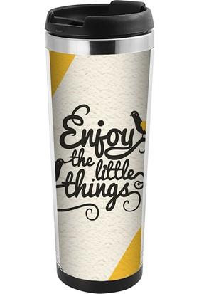 Allmug İçi Çelik Renkli Termos - Enjoy The Little Things