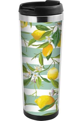 Allmug İçi Çelik Renkli Termos - Lemon
