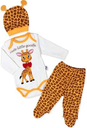 Bebbeg Papyonlu Zürafa 3'lü Takım