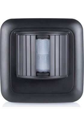 Smartwares Akıllı Ev Dış Mekan Kablosuz Pilli Hareket Sensörü Siyah-Sinyal İletici 10.037.21