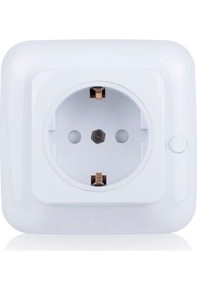 Smartwares Akıllı Ev İç Mekan Yerleşik Priz Açma/Kapama 2300W'a Kadar Beyaz- Sinyal Alıcı 10.037.39