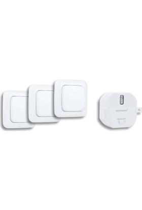 Smartwares AKıllı Ev İç Mekan Başlangıç Seti (1 Yerleştirmeli priz ve 3 Duvar Anahtarı) 10.032.86