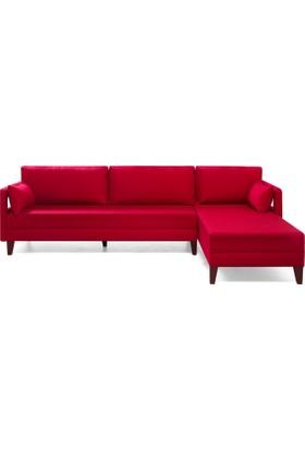 Comfort Yaşam Serisi Köşe Koltuk Kırmızı Sağ