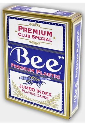 Bee Jumbo Plastik Oyun Kağıdı Kırmızı